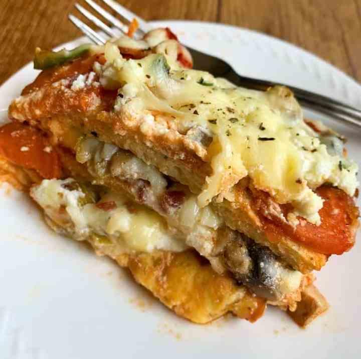 Keto Pizza Lasagna