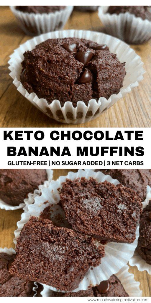 keto chocolate banana muffins