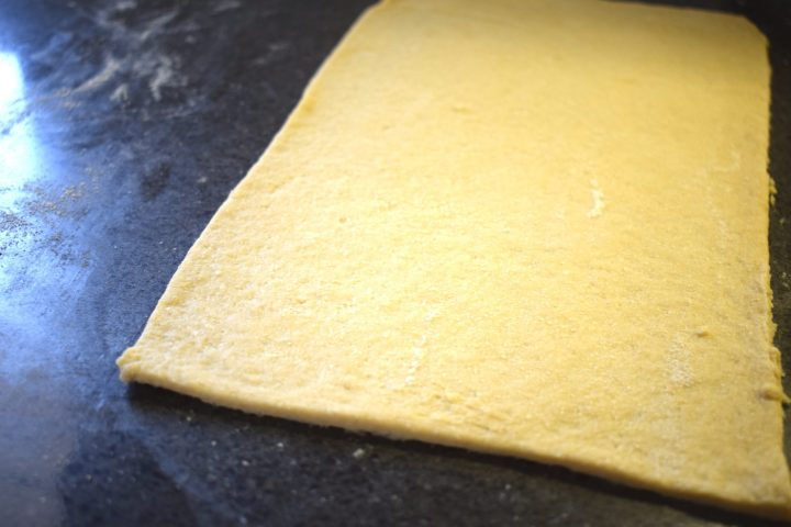 keto puff pastry dough cut