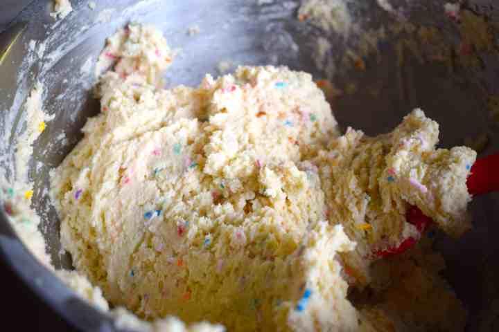 Keto Funfetti Cake batter