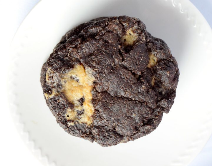 keto double chocolate caramel cookies