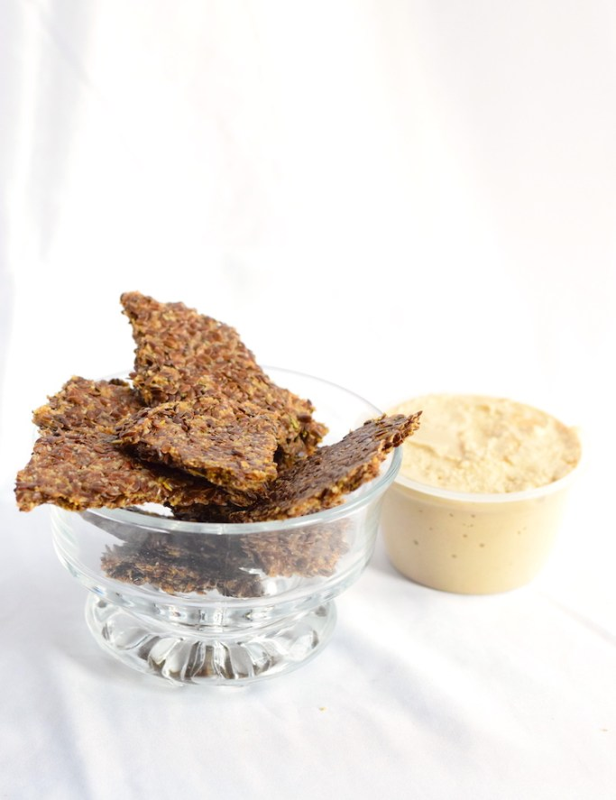 keto seed crackers with dip