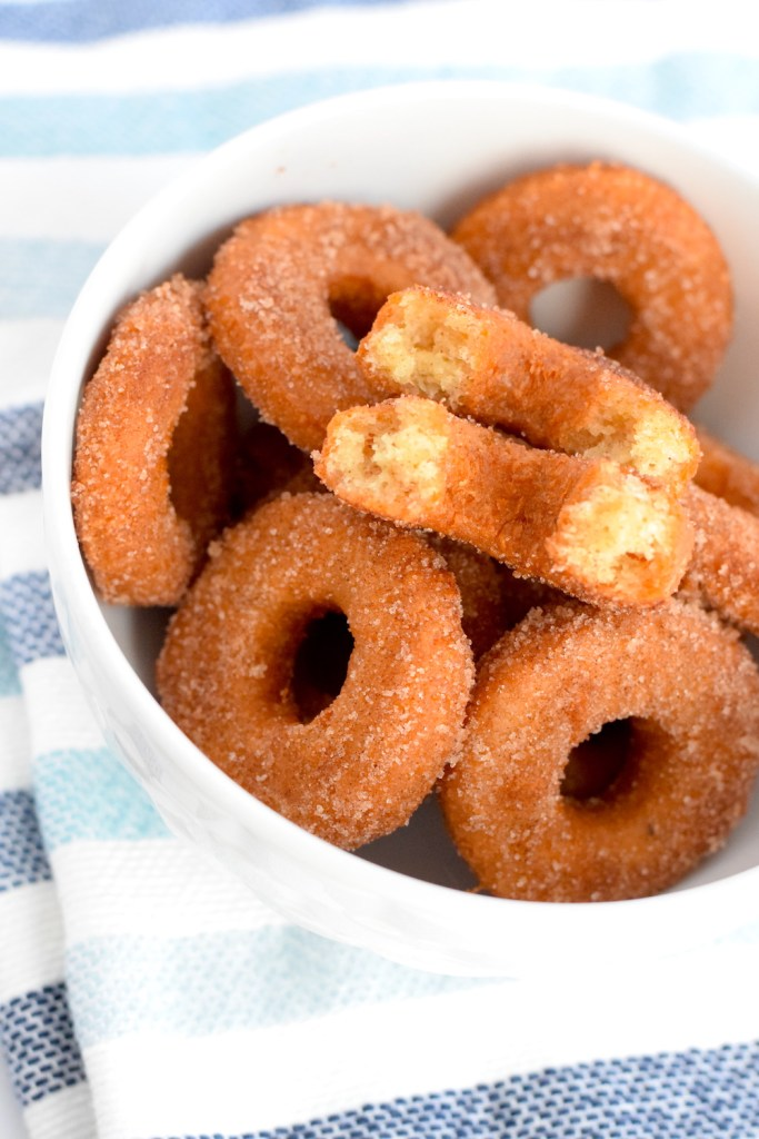the best keto fried cinnamon sugar donuts