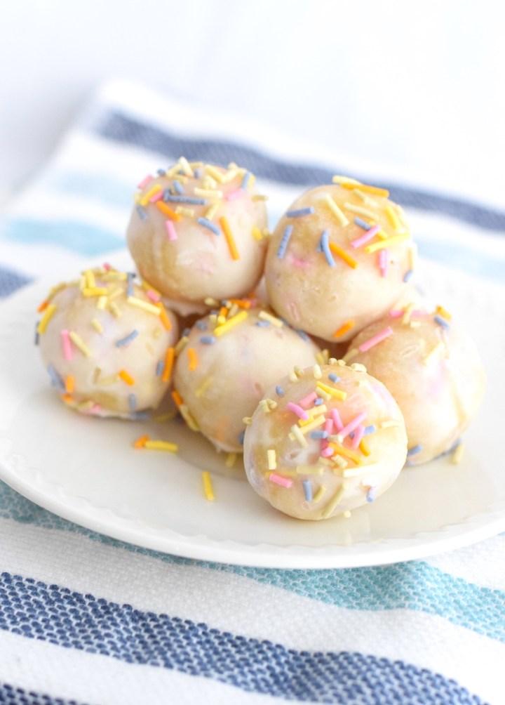 keto birthday cake balls