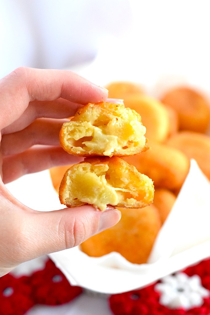 low carb fried mac and cheese balls