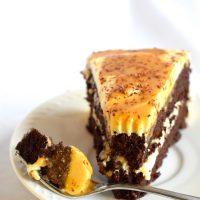 Keto Salted Caramel Chocolate Cake