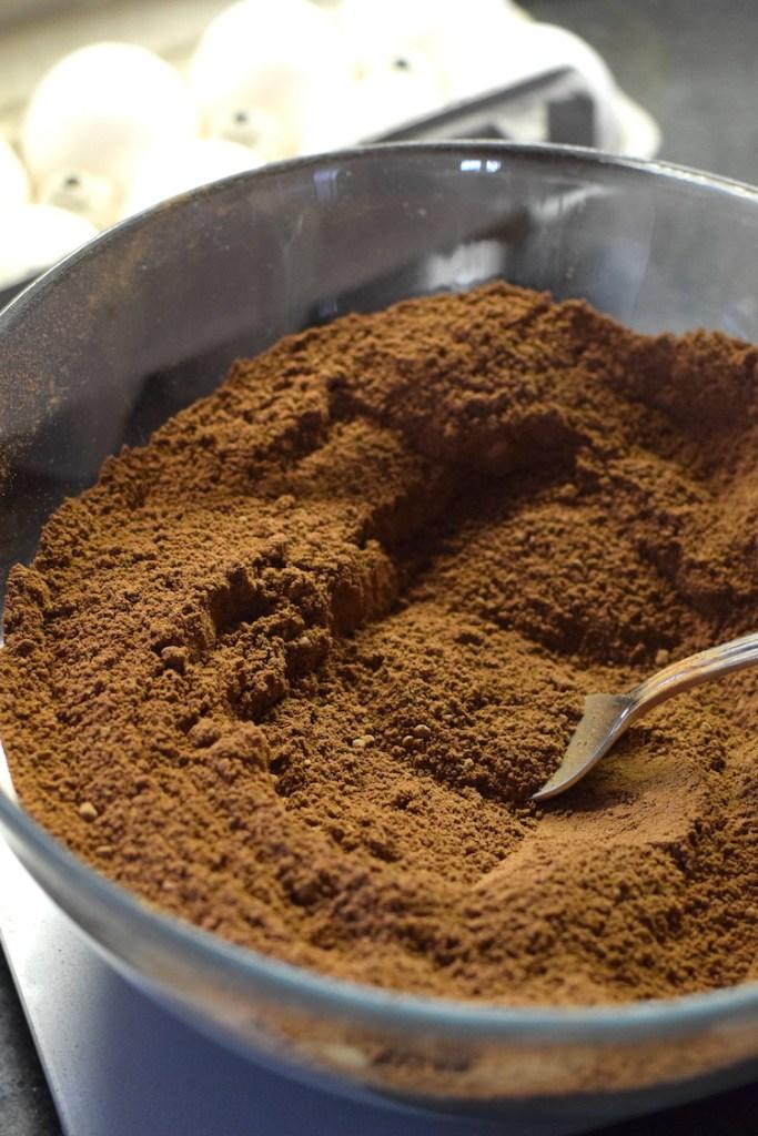 almond flour, cocoa powder, coconut flour