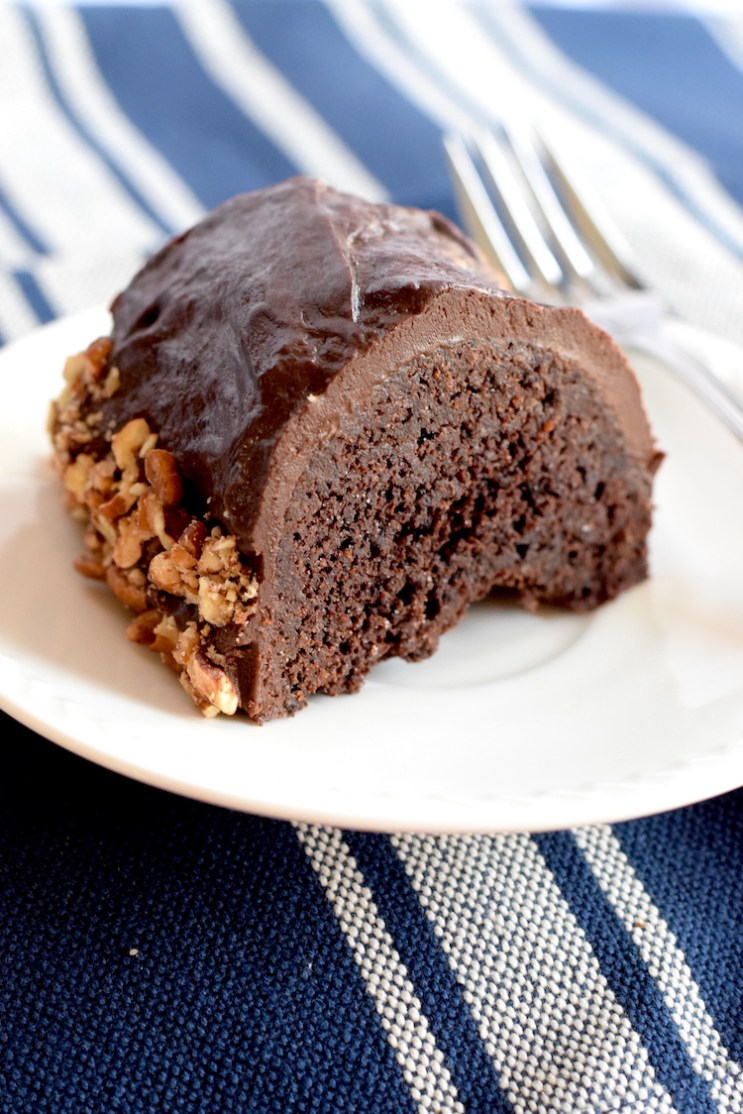 Keto Chocolate Glazed Bundt Cake