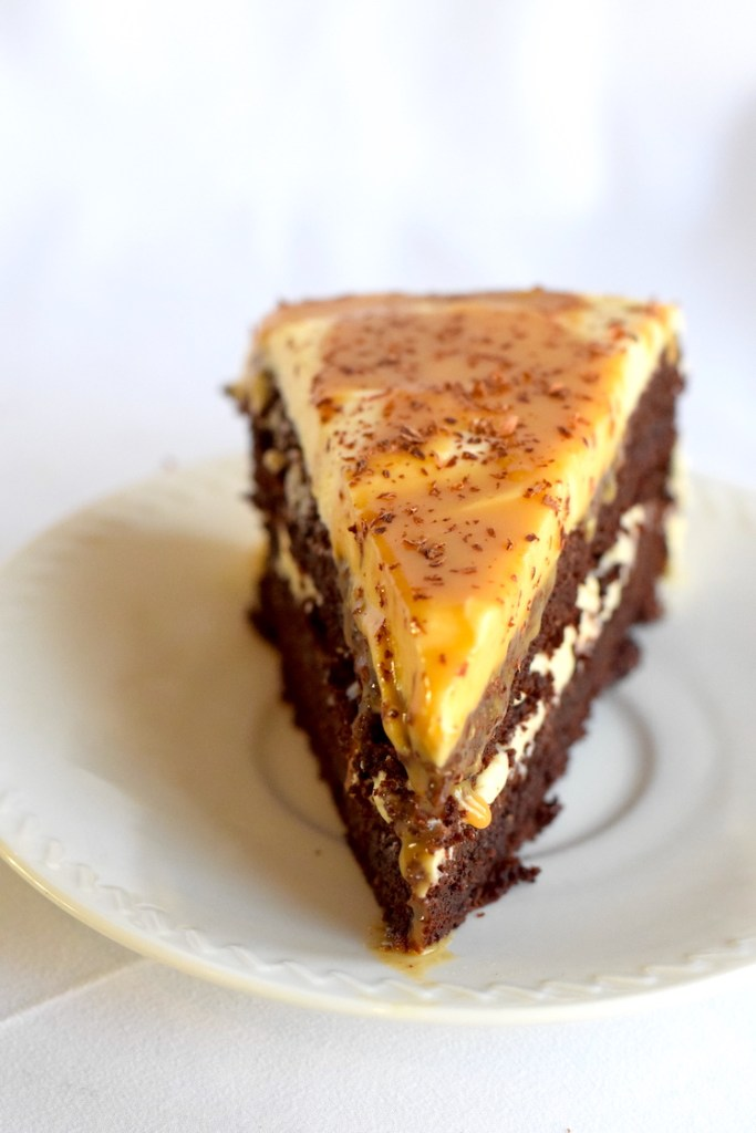 low carb salted caramel cake