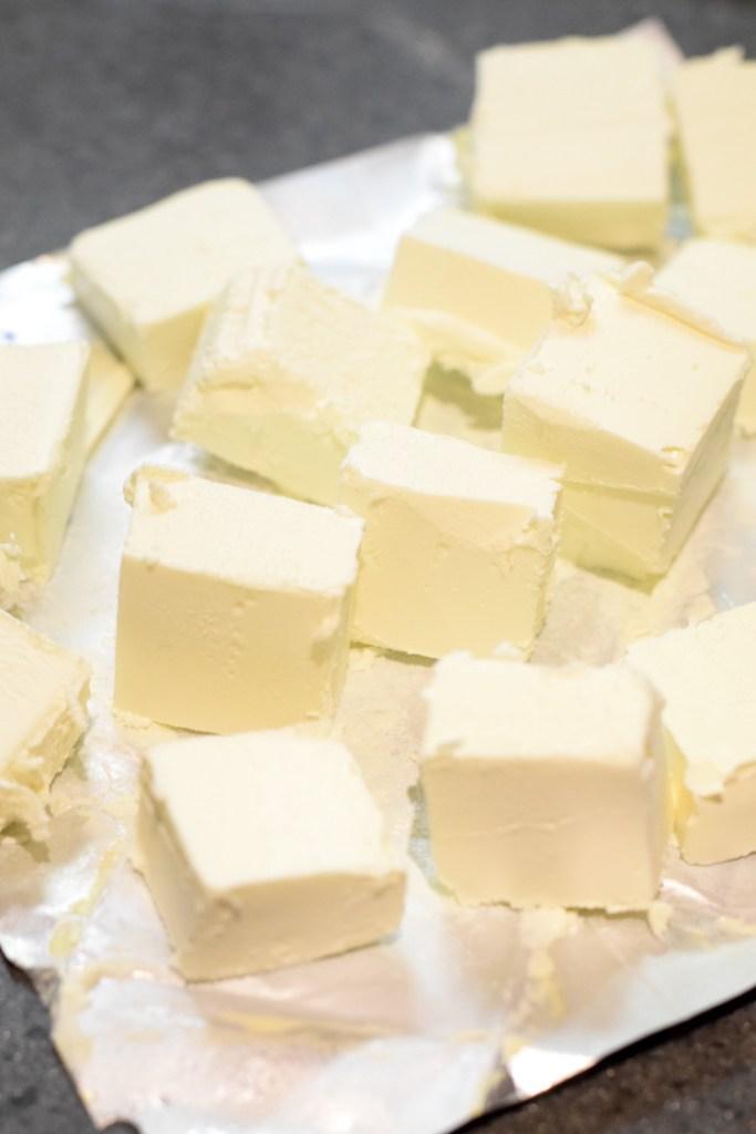 cubed cream cheese