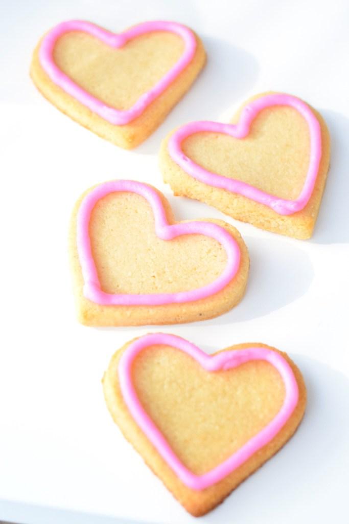 keto heart sugar cookies