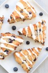 keto blueberry low carb scones