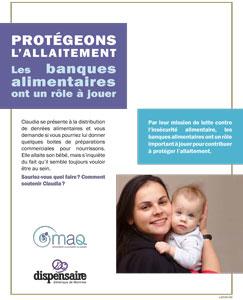 Protégeons l'allaitement: les banques alimentaires ont un rôle à jouer