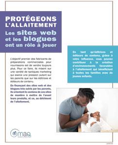 Protégeons l'allaitement: les sites web et les blogues ont un rôle à jouer