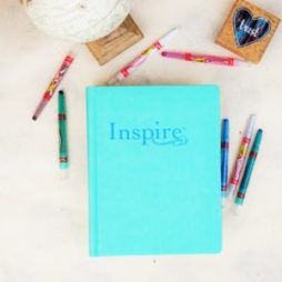 Looking for a Bible with illustrations to color? This NLT Inspire Bible has coloring pages for you!