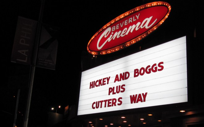 "Hickey and Boggs and Cutter's Way at the New Beverly Cinema during Edgar Wright's ""The Wright Stuff"""