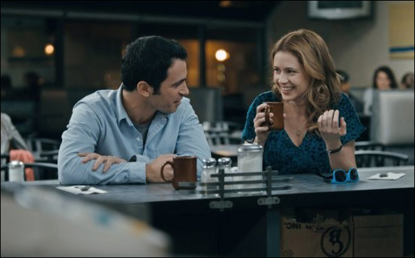 """Chris Messina and Jenna Fischer in """"The Giant Mechanical Man"""""""