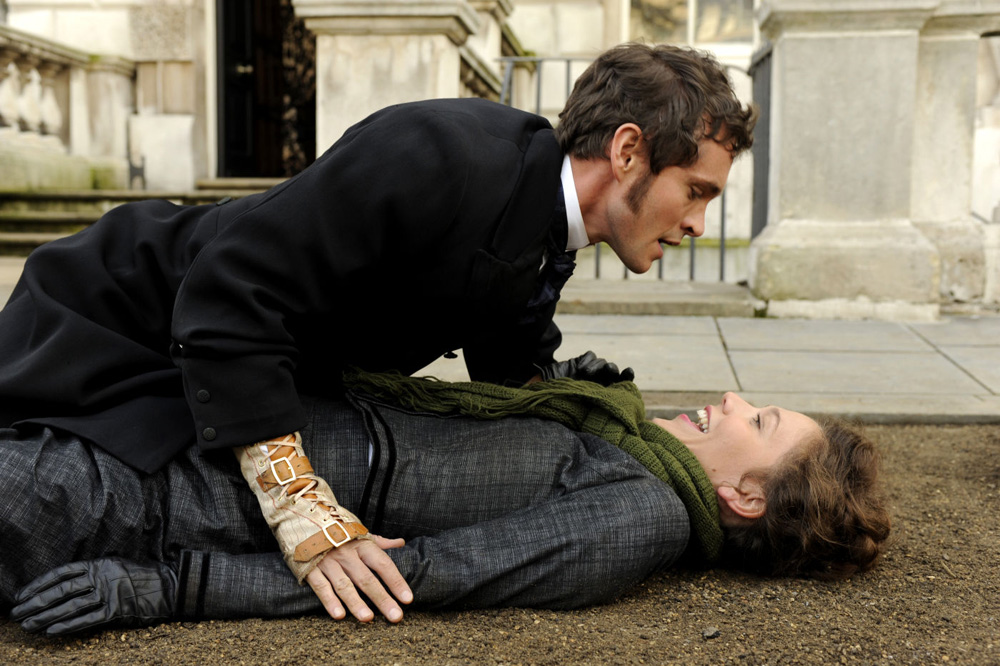 "Hugh Dancy and Maggie Gyllenhaal in ""Hysteria"""