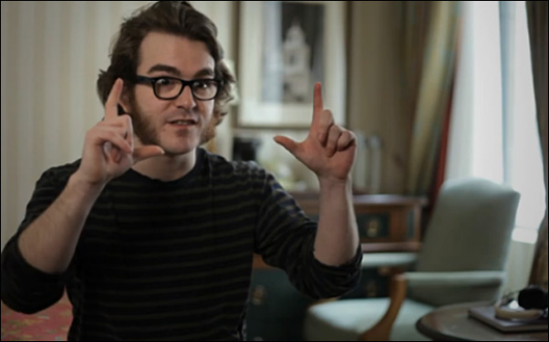 """Fez"" creator Phil Fish in ""Indie Game: The Movie"""