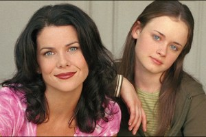 "Lauren Graham and Alexis Bledel in ""Gilmore Girls"""