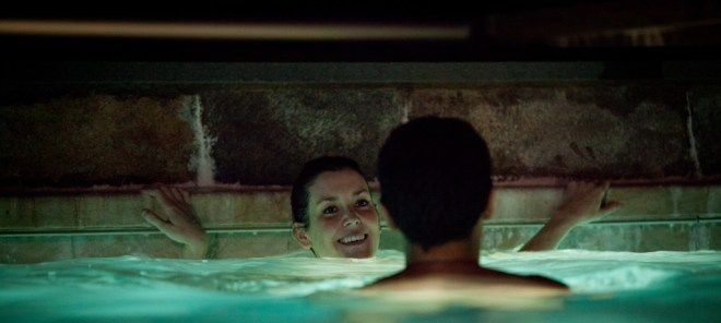 """Melanie Lynskey and Christopher Abbott in a scene from Todd Louiso's """"Hello I Must Be Going"""""""