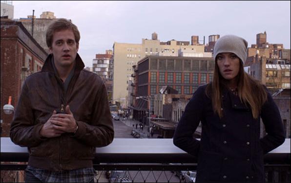 "Alexander Poe and Jennifer Carpenter in Alexander Poe's film ""Ex-Girlfriends"""