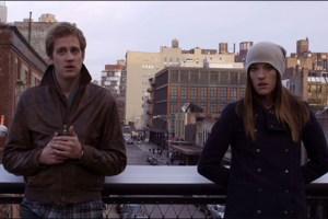 "Alexander Poe and Jennifer Carpenter in Alexander Poe's film ""Ex-Girlfriends"""