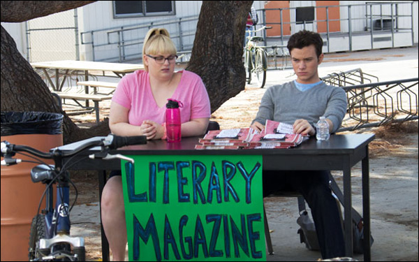 "Rebel Wilson and Chris Colfer in a scene from Brian Dannelly's film ""Struck By Lightning"""