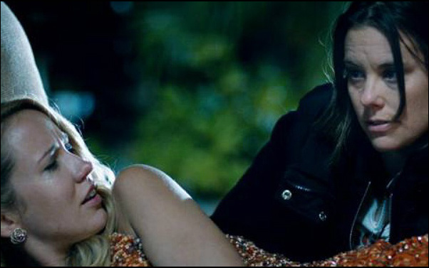 Anna Camp and Ashley Williams in Sarah Gertrude Shapiro's short film Sequin Raze