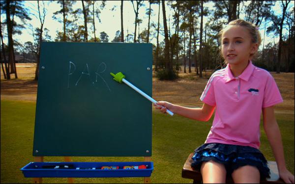 Sky Sudberry in a scene from Josh Greenbaum's golf movie The Short Game