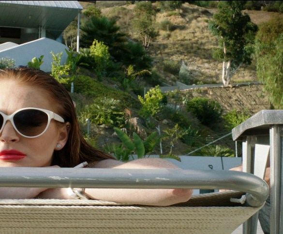 """Lindsay Lohan and James Deen in """"The Canyons"""""""