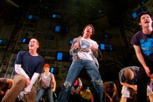 "John Gallagher Jr. in ""American Idiot"" in ""Broadway Idiot"""