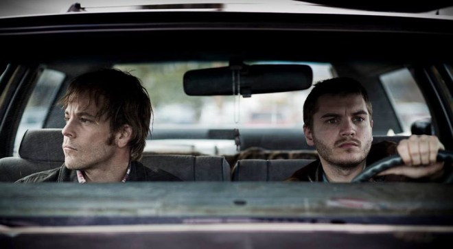 "Stephen Dorff and Emile Hirsch in Alan and Gabe Polsky's ""The Motel Life"""