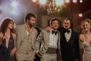 "Amy Adams, Bradley Cooper, Jeremy Renner, Christian Bale and Jennifer Lawrence in ""American Hustle"""