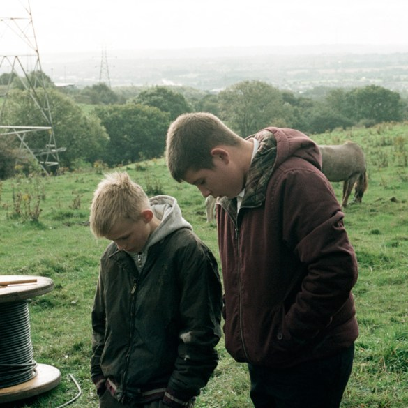 """Connor Chapman and Shaun Thomas in """"The Selfish Giant"""""""