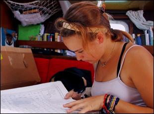 """Laura Dekker in Jillian Schlesinger's """"Maidentrip"""""""