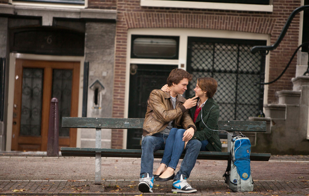 """Ansel Eigort and Shailene Woodley in """"The Fault in Our Stars"""""""
