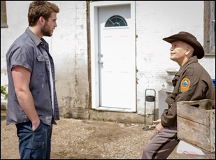 "Liam Hemsworth and John Malkovich in ""Cut Bank"""
