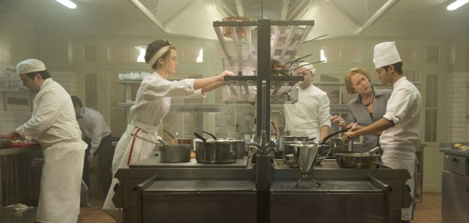"""Charlotte Le Bon, Manish Dayal and Helen Mirren in """"The Hundred Foot Journey"""""""