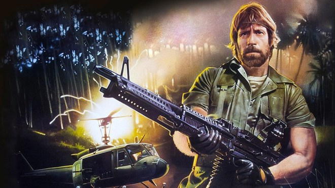 """Chuck Norris in """"Missing in Action"""" in """"Electric Boogaloo"""""""