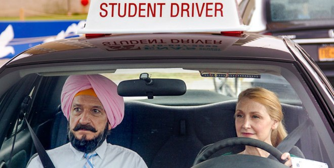 """Ben Kingsley and Patricia Clarkson in """"Learning to Drive"""""""