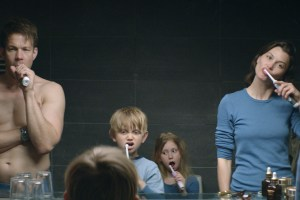 "Johannes Kuhnke, Lisa Loven Kongsli, and Vincent Wettergren and Clara Wettergren in ""Force Majeure"""