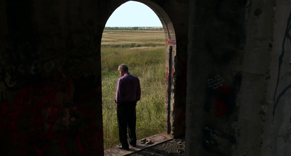 "Pastor Jay Reinke in Williston in ""The Overnighters"""