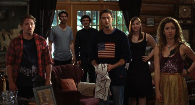 "Ryan Eggold, Erin Darke, Beck Bennett, Brett Dalton, Will Brill, Jessy Hodges in ""Beside Still Waters"""