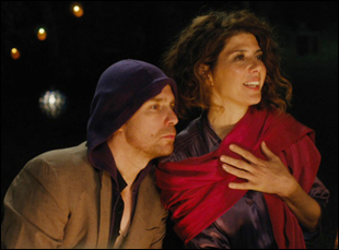 "Sam Rockwell and Marisa Tomei in ""Loitering With Intent"""