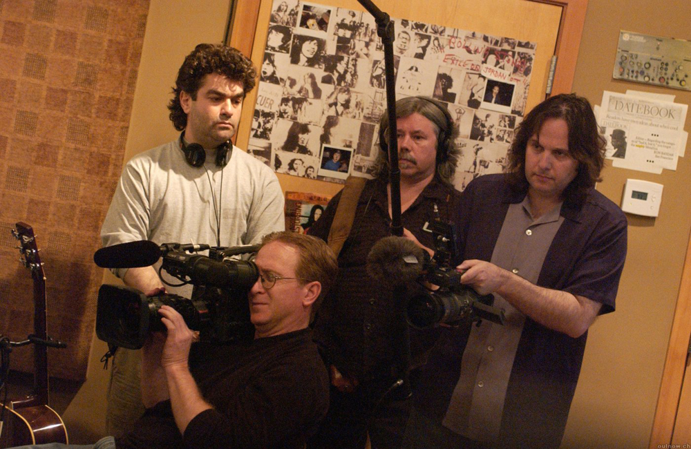 """Joe Berlinger and Bruce Sinofsky on the set of """"Metallica: Some Kind of Monster"""""""