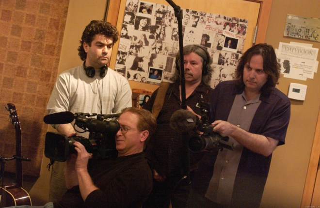 "Joe Berlinger and Bruce Sinofsky on the set of ""Metallica: Some Kind of Monster"""