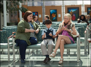"Melissa McCarthy, Jaeden Lieberher and Naomi Watts in ""St. Vincent"""