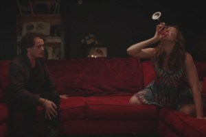 "Kate Lyn Sheil and Anton Yelchin in ""Kiss Kiss Fingerbang"""