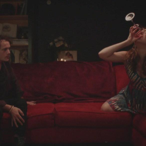 "Kate Lyn Sheil and Anton Yelchin in ""Kiss Kiss Fingerbang"""
